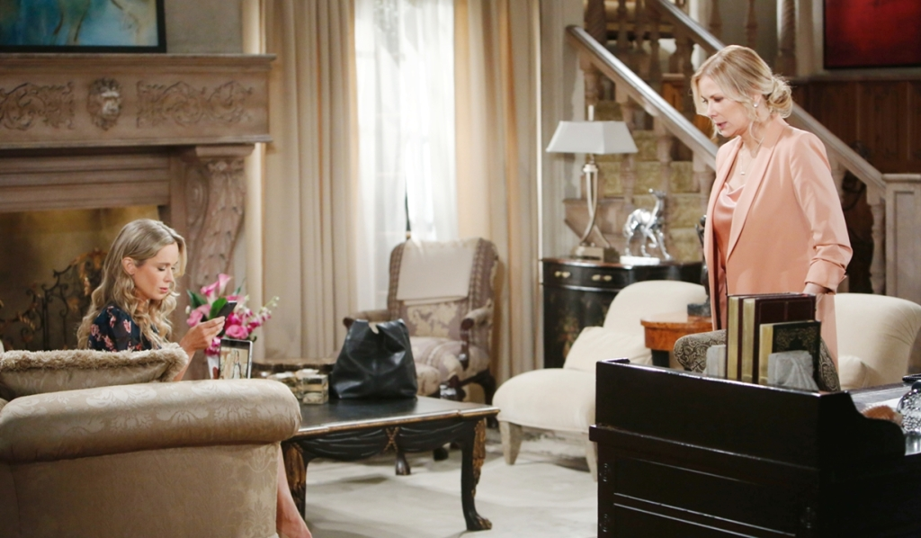 Donna, Brooke after confrontation Bold and Beautiful\