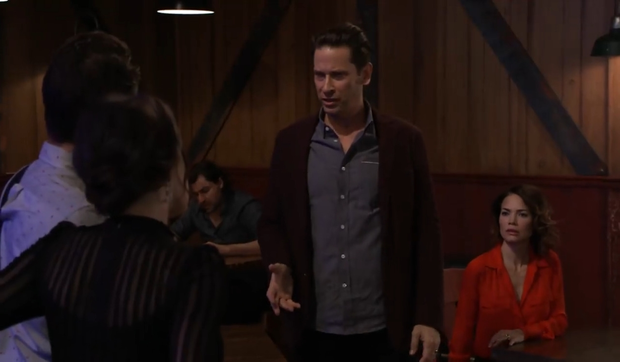 Franco asks Spinelli and Sam about Liesl at Floating Rib General Hospital