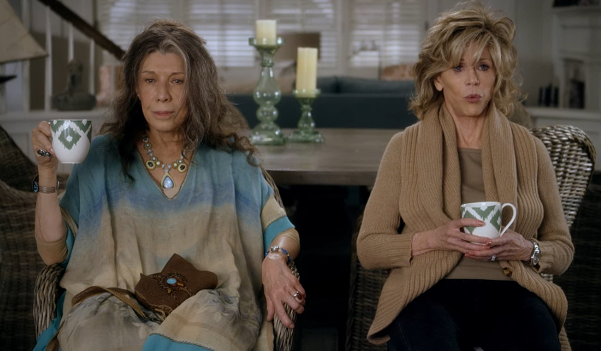 Frankie, Grace now what beach house Grace and Frankie