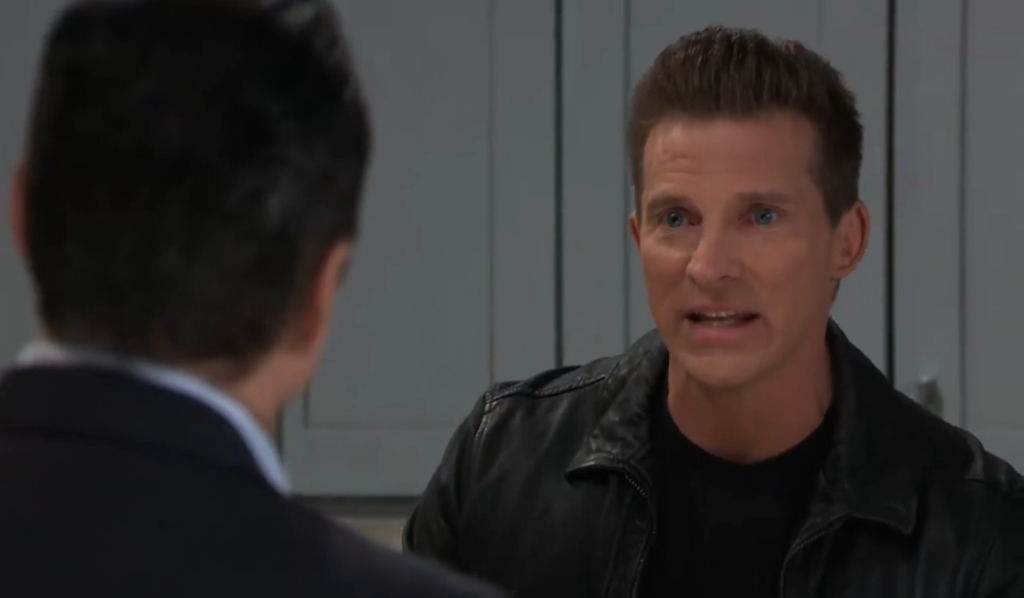 Jason tells Sonny to keep Laura ignorant at Corinthos house General Hospital