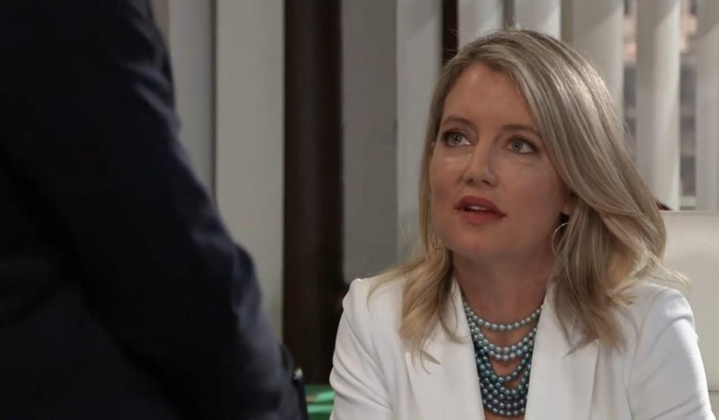 Jax tells Nina about HR email at Crimson General Hospital
