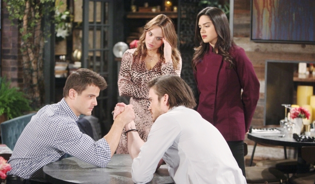 Kyle, Summer, Lola, Theo ice storm Young and Restless