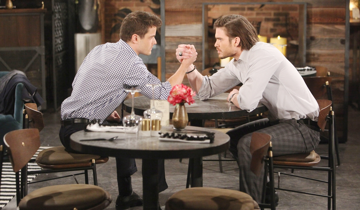 Kyle, Theo arm-wrestle Young and Restless