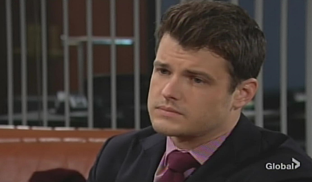 Kyle grim look Young and Restless