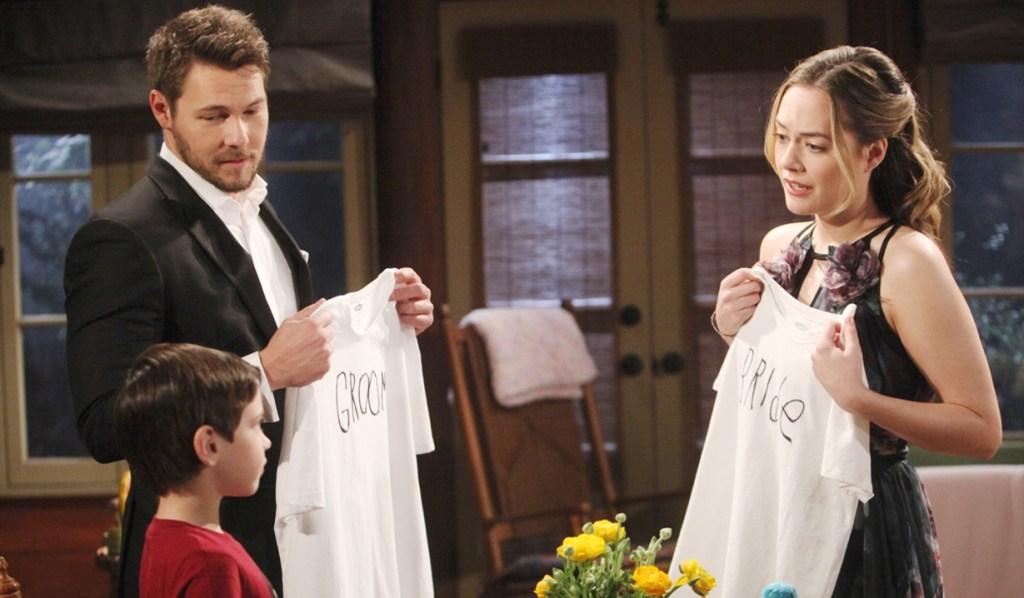 Liam, Hope, Douglas tshirts Bold and Beautiful