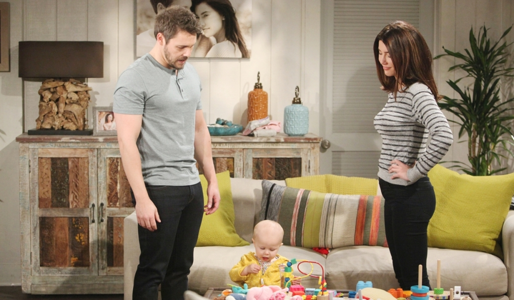 Liam, Steffy watch Beth Bold and Beautiful