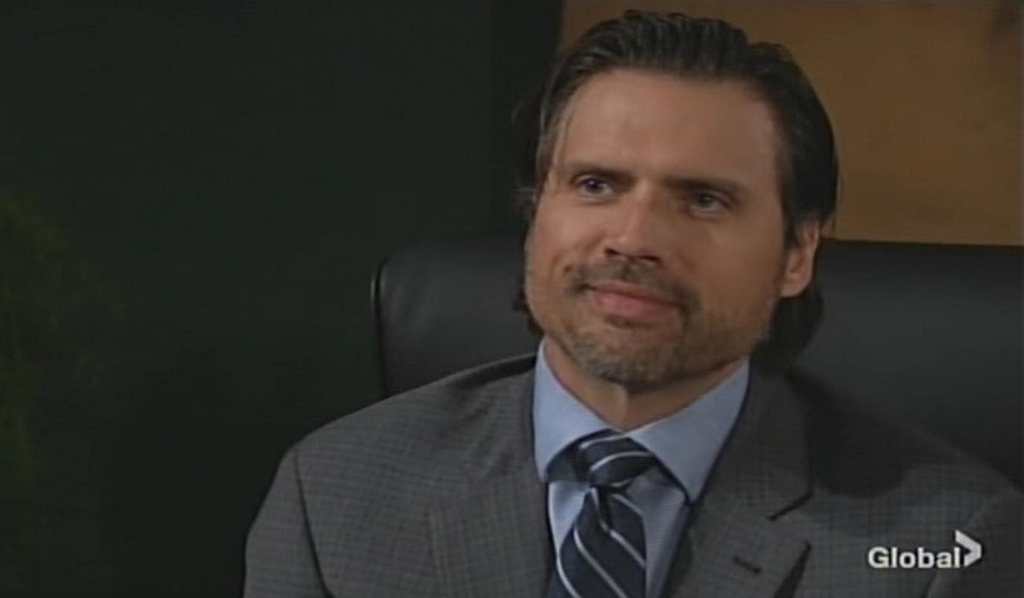 Nick grin office Young and Restless