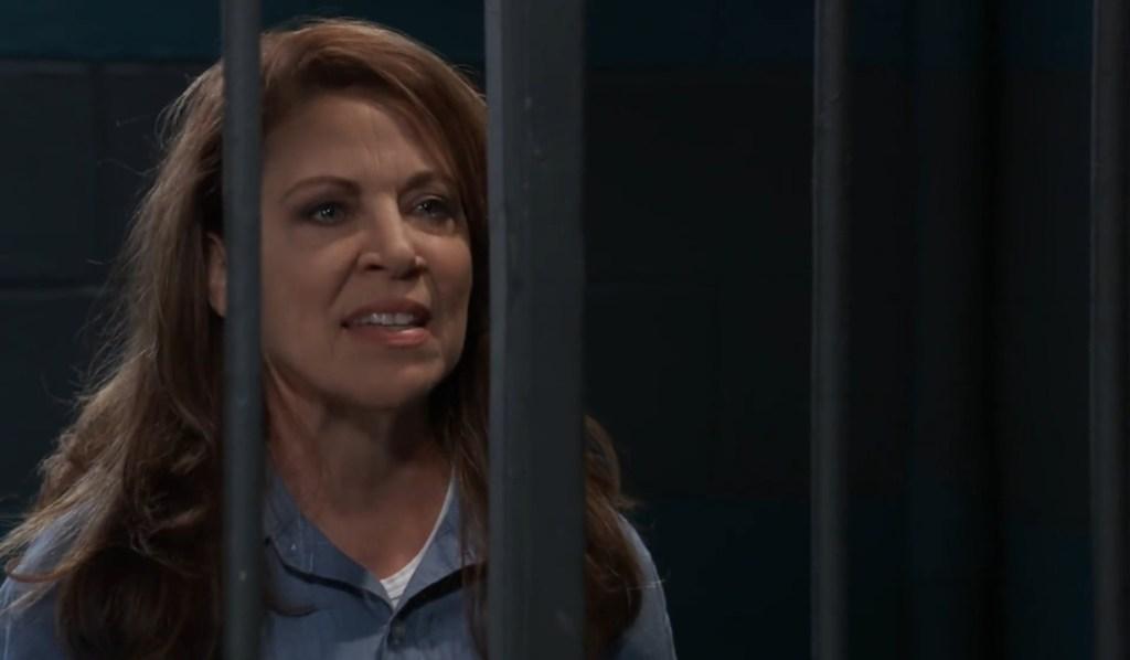 Obrecht tells Nina she has been framed in jail General Hospital