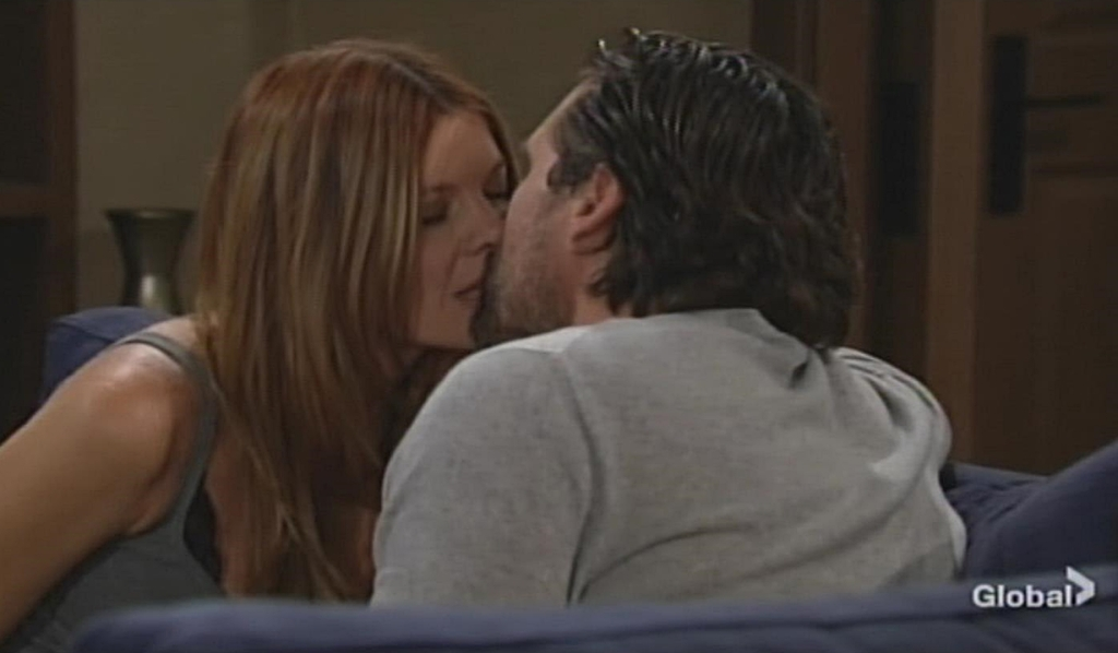 Phyllis, Nick kiss Young and Restless