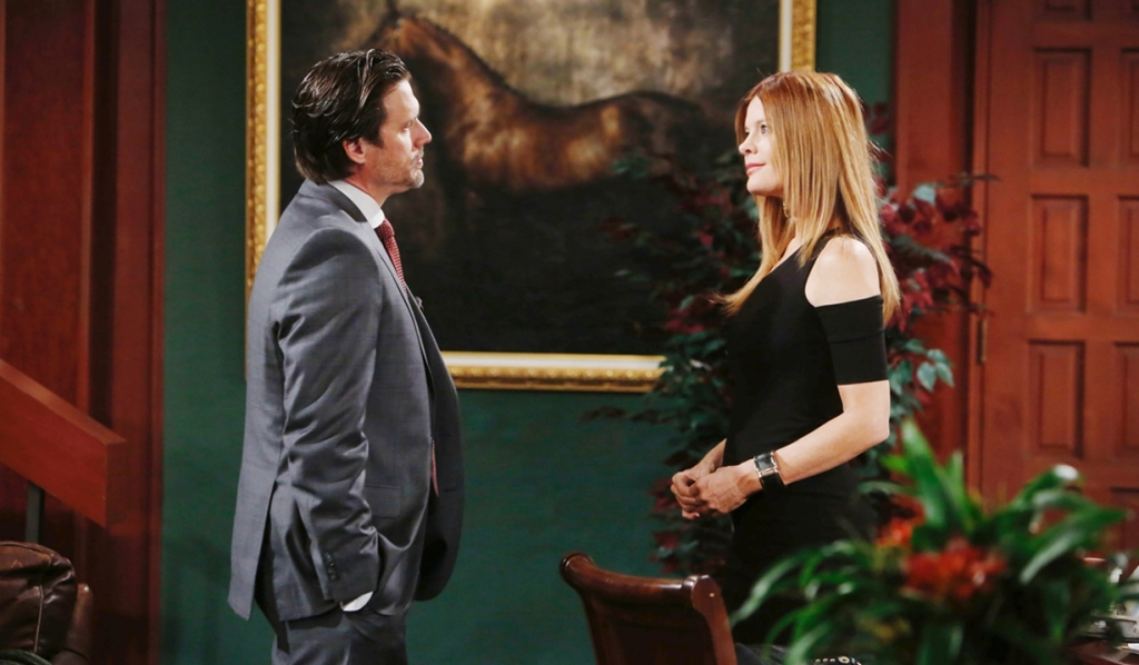 Phyllis visits Nick at office Young and Restless