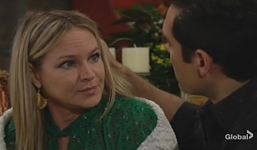 Sharon, Rey reassurance Young and Restless