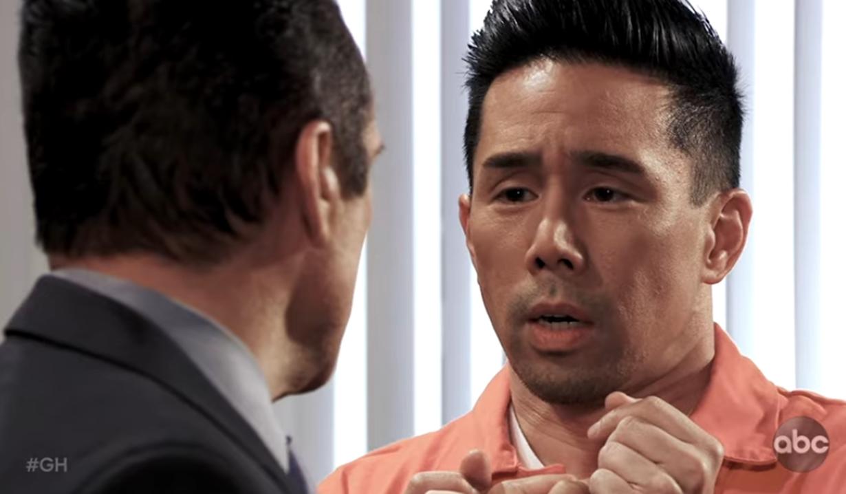 Sonny grabs Brad General Hospital