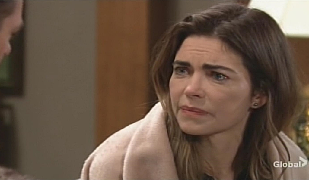 Victoria confront Billy Young and Restless