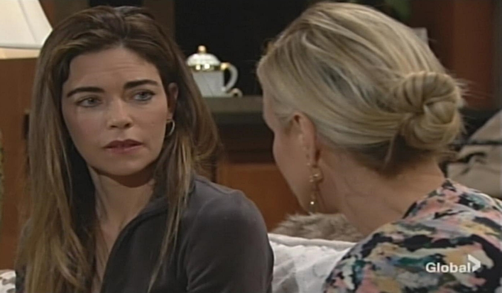 Victoria talks with Sharon Young and Restless