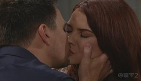 Wyatt kisses Sally Bold and Beautiful