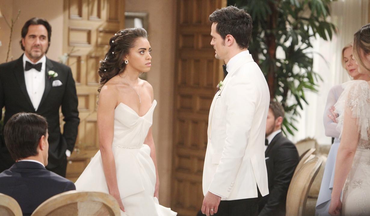 Zoe confront Thomas wedding Bold and Beautiful