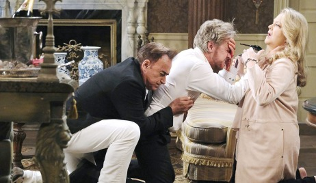 anna stabs stevano eye with heel days of our lives