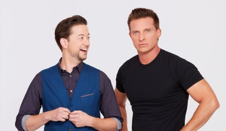 Bradford Anderson and Steve Burton of General Hospital