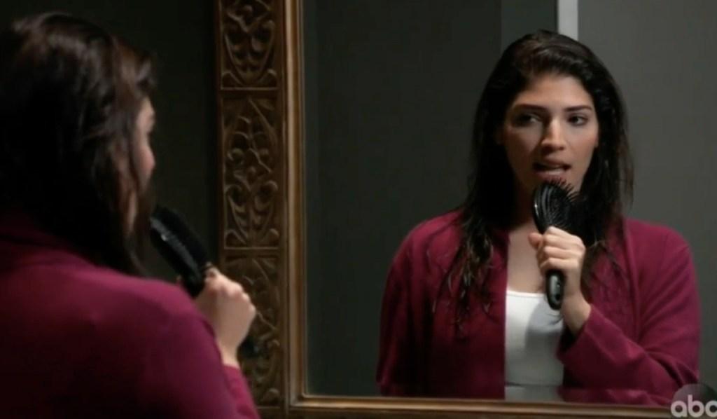Brook Lynn sings in the mirror on General Hospital