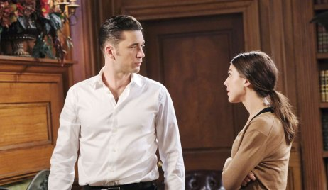 chad and abigail talk at the dimera mansion days of our lives