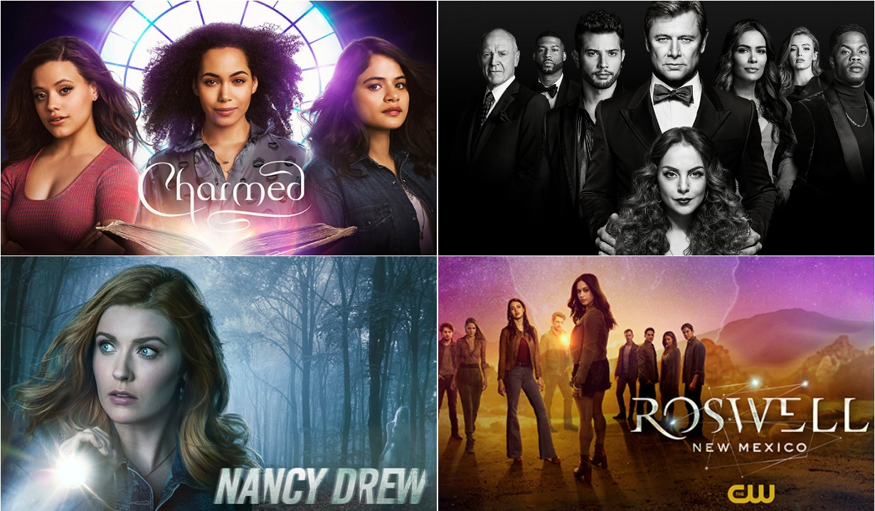 charmed, dynasty, nancy drew, roswell new mexico teasers cw