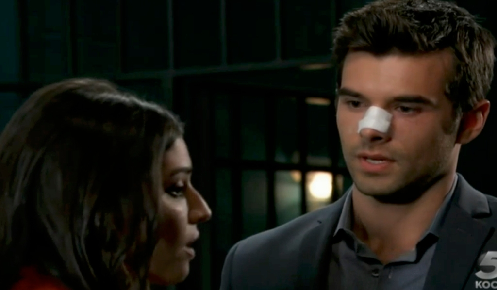 Chase lets Brook out of lockup on General Hospital