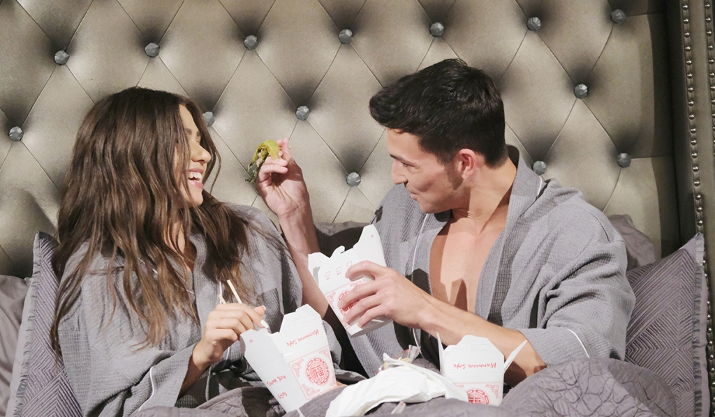 ciara ben eat chinese takeout bed days of our lives