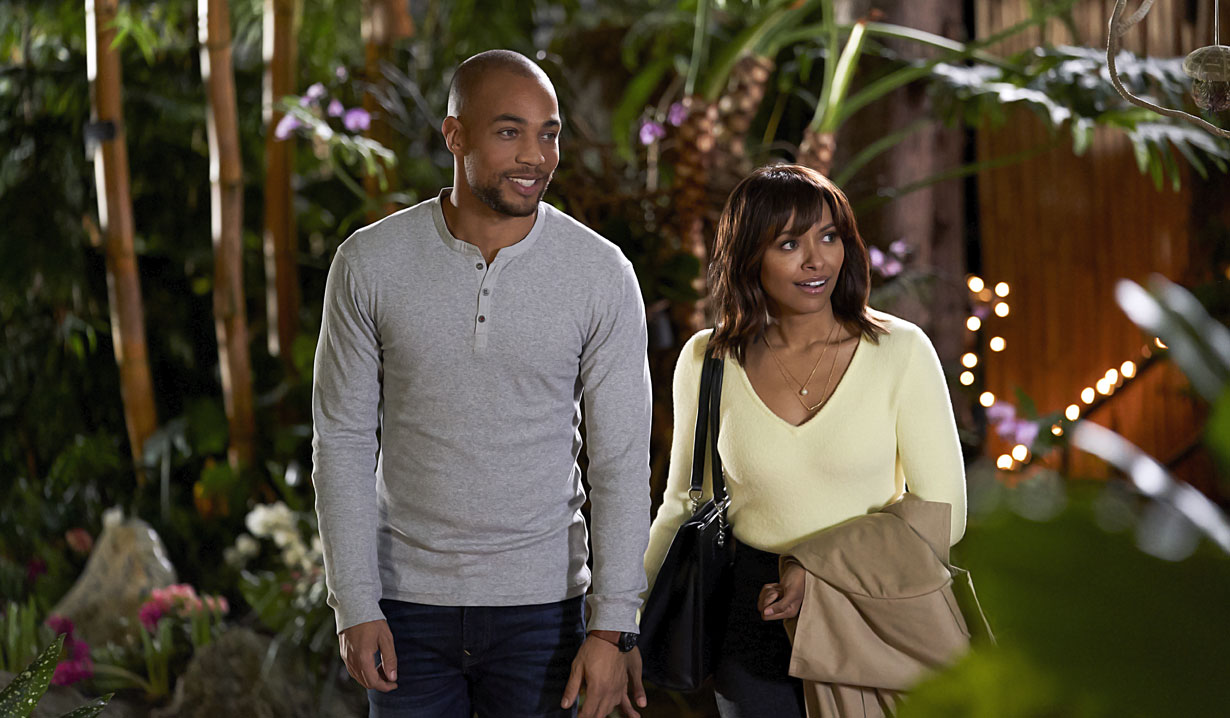 days of our lives alum kendrick sampson and kat graham in hallmark's fashionably yours