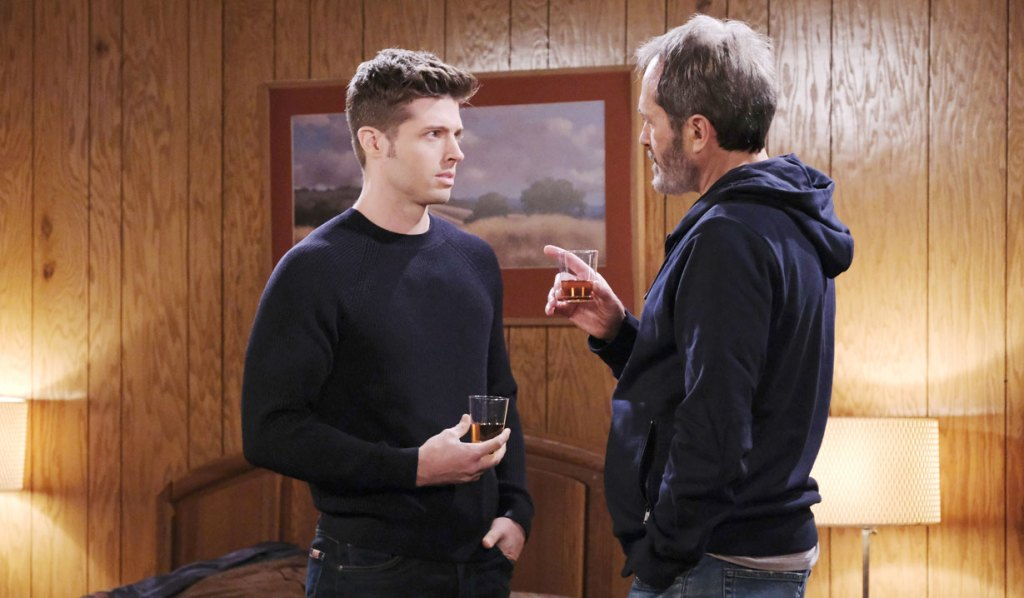 evan and orpheus share a drink at salem inn days of our lives