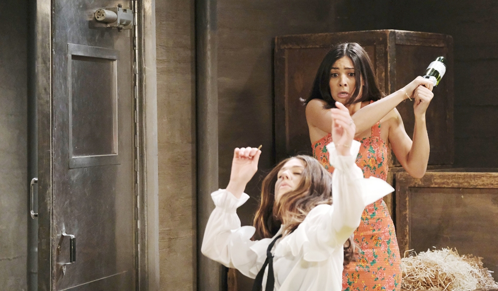 gabi hits abby over head days of our lives