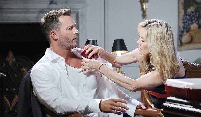 kristen cares for brady's gunshot wound days of our lives
