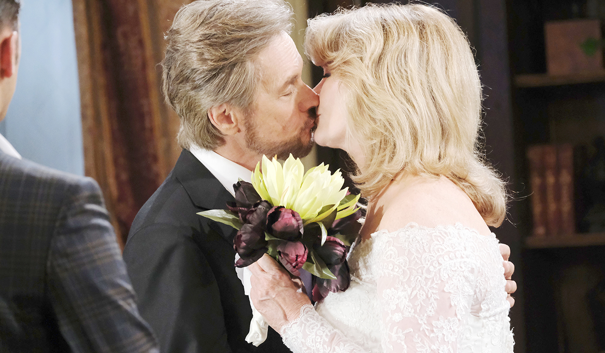 stevano kisses bride marlena days of our lives