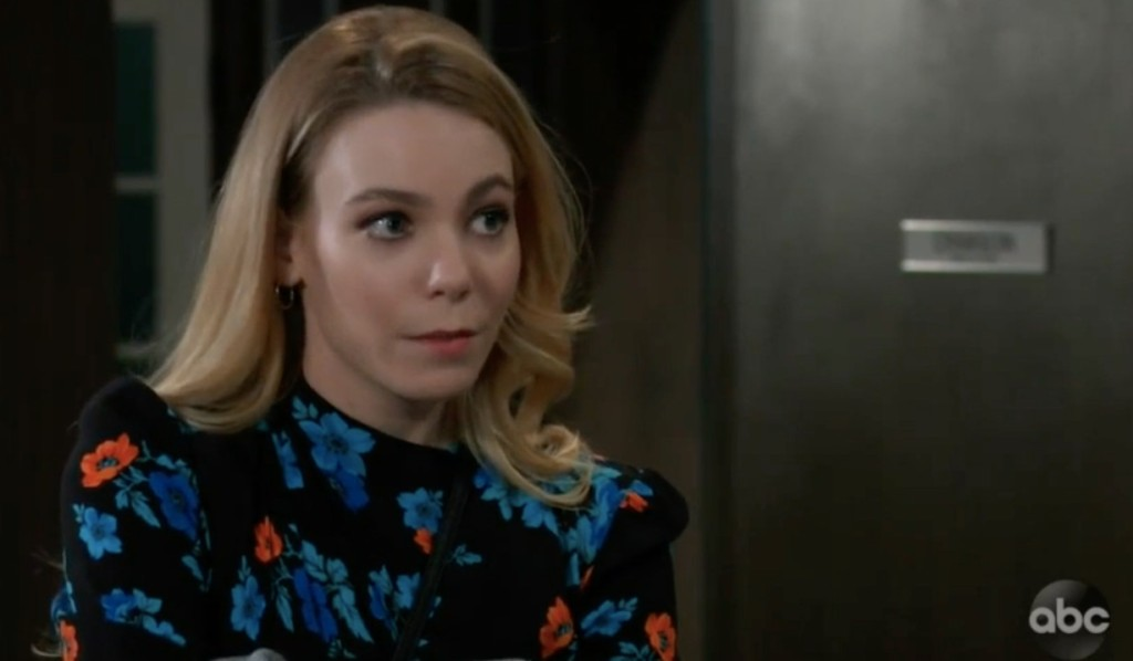 Nelle wants a job at Crimson on General Hospital
