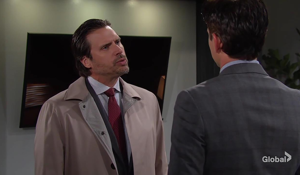 Billy and Nick argue about guilty at office The Young and the Restless