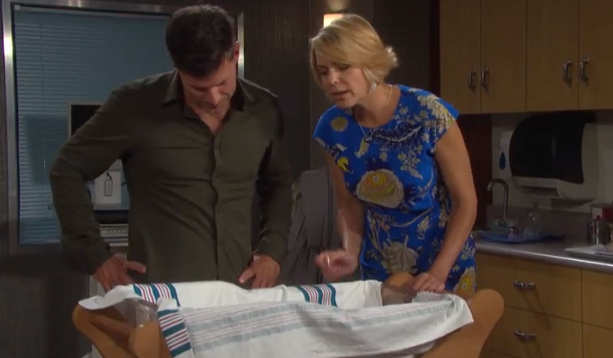 Nicole notices a birthmark on Mickey's neck on Days of our Lives