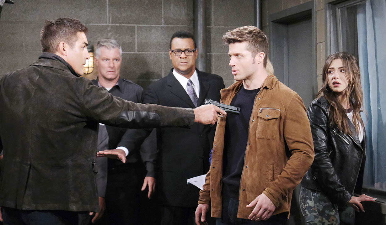 Rafe holds gun on evan days of our lives