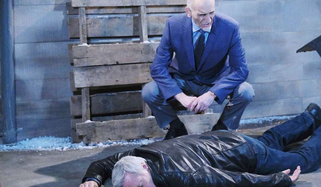 rolf admires his handiwork on unconscious john days of our lives