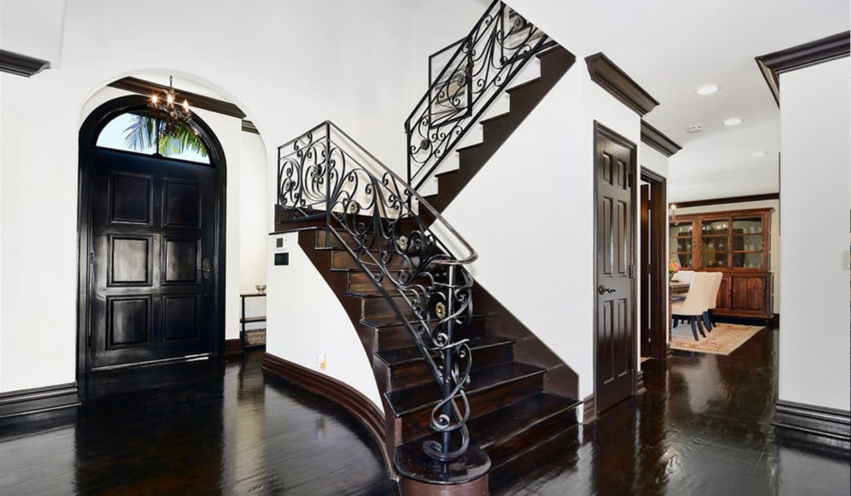 Shemar Moore's foyer and staircase