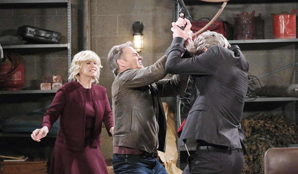 justin and stevano fight for gun days of our lives