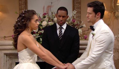 Thomas and Zoe's wedding day on Bold and the Beautiful