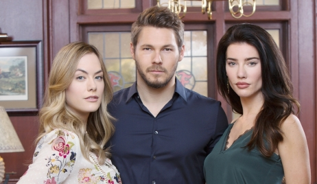 Annika Noelle, Scott Clifton, Jaqueline MacInnes Wood, promo Bold and Beautiful