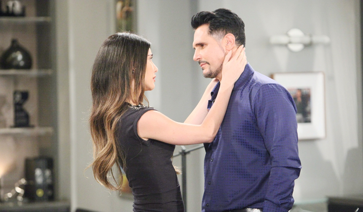 Bill, Steffy, tender moment Bold and Beautiful
