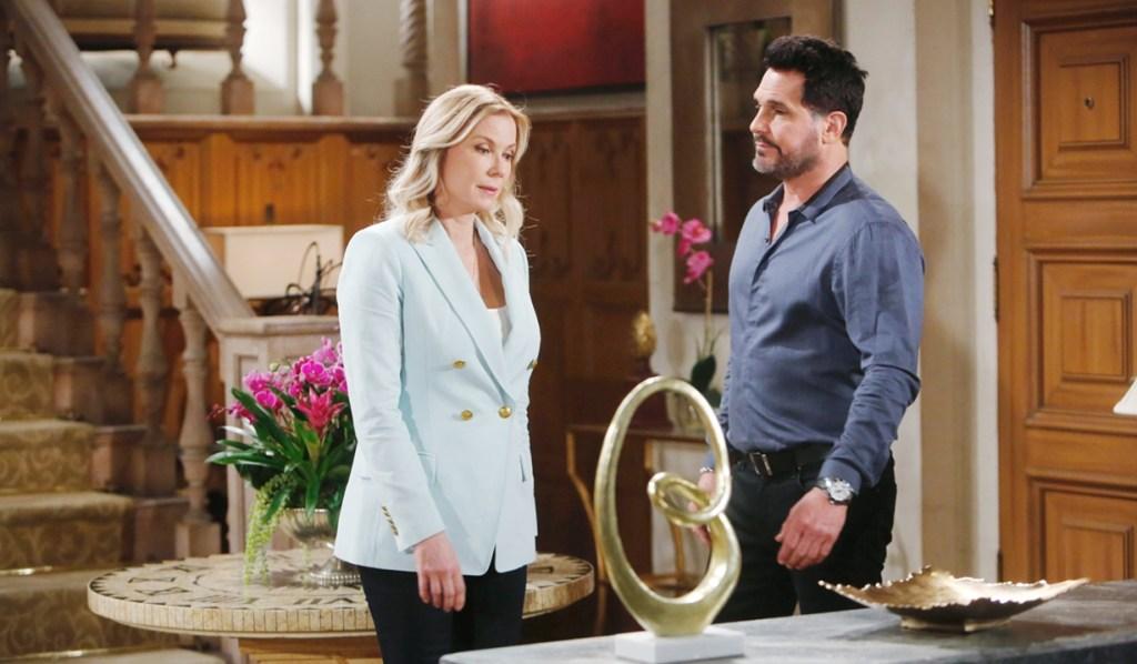 Bill visits Brooke Bold and Beautiful