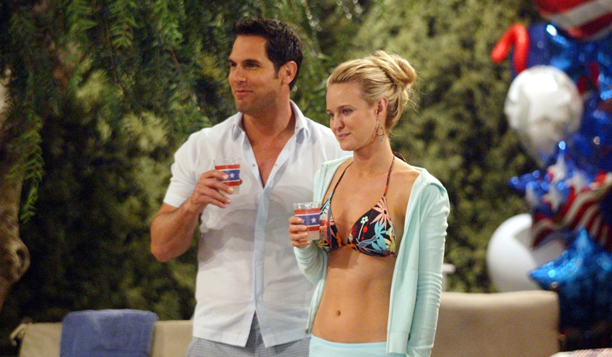 Brad, Sharon, pool party Young and Restless