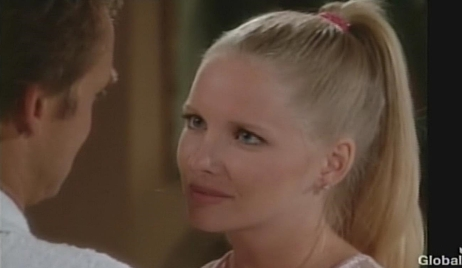 Christine gazes at Paul honeymoon Young and Restless