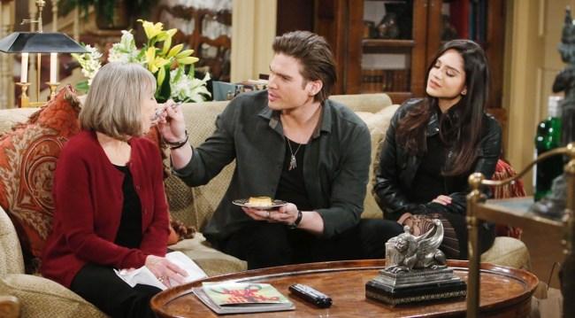 Dina, Theo visit Dina Young and Restless