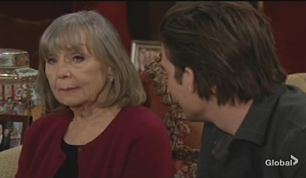 Dina visits with Theo Young and Restless