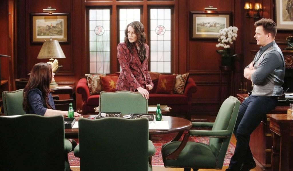 Katie, Quinn, Wyatt office Bold and Beautiful