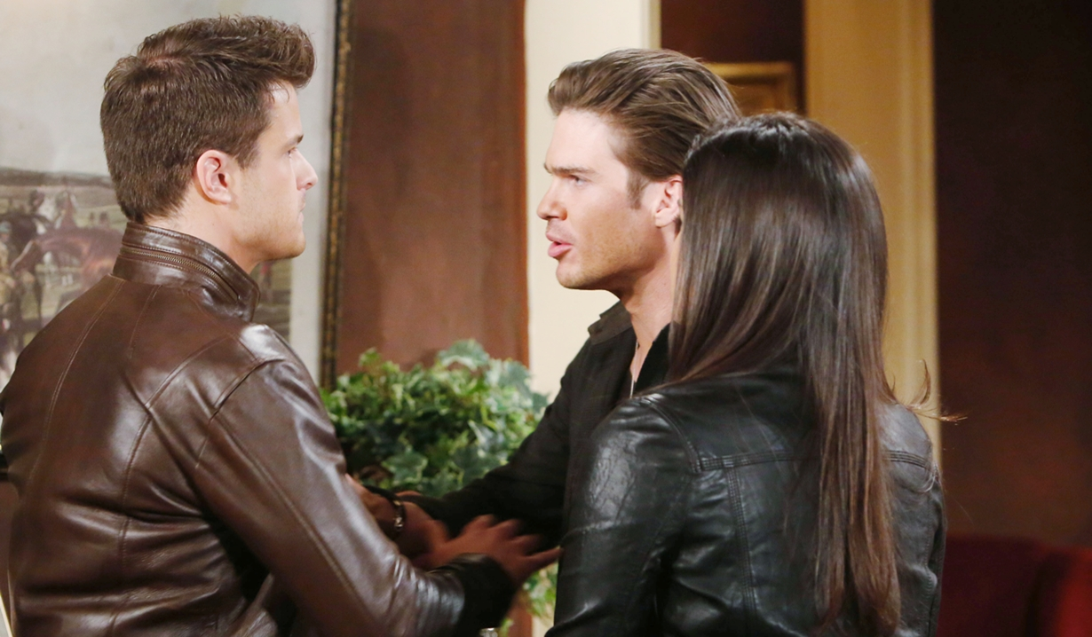 Kyle, Theo, Lola argument Young and Restless
