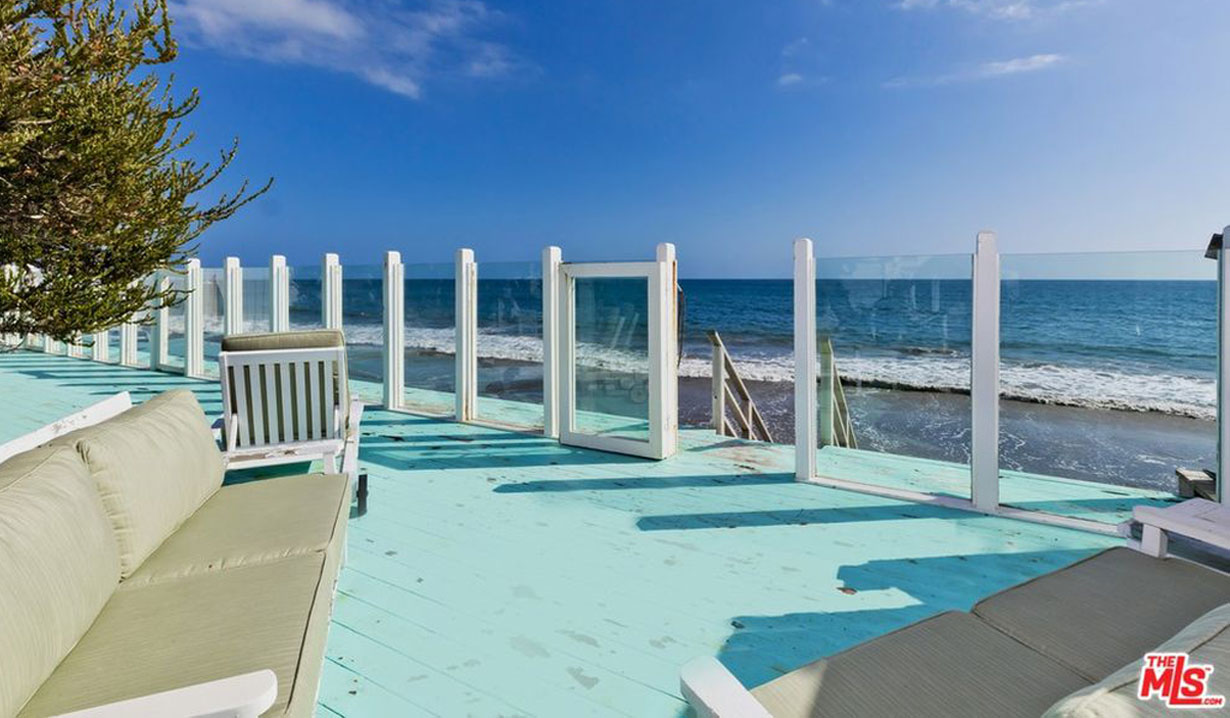 Lee Phillip Bell & William J. Bell's estate for sale - deck to beach